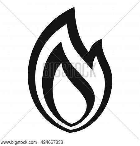 Fire Flame Bonfire Icon. Simple Illustration Of Fire Flame Bonfire Vector Icon For Web Design Isolat