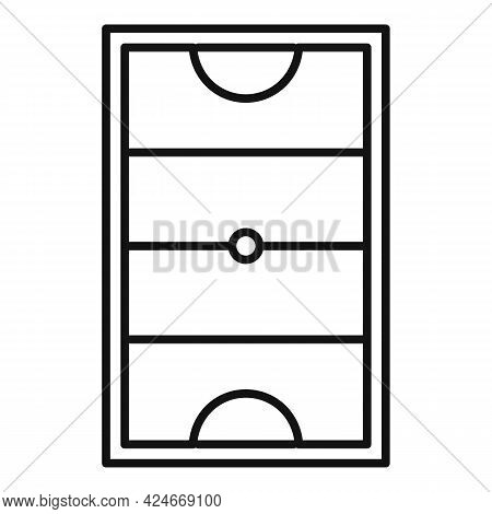 Hurling Field Icon. Outline Hurling Field Vector Icon For Web Design Isolated On White Background
