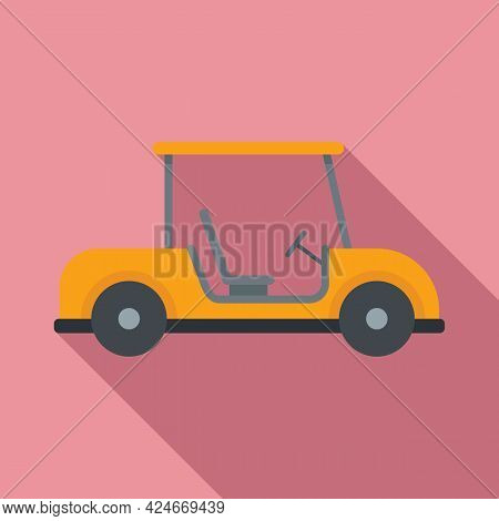 Golf Cart Club Icon. Flat Illustration Of Golf Cart Club Vector Icon For Web Design