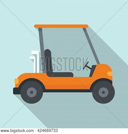 Golf Cart Drive Icon. Flat Illustration Of Golf Cart Drive Vector Icon For Web Design