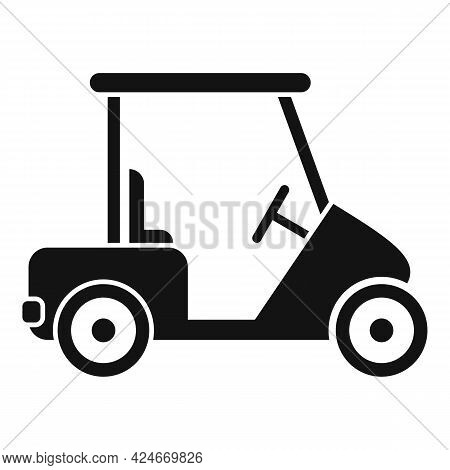 Golf Cart Buggy Icon. Simple Illustration Of Golf Cart Buggy Vector Icon For Web Design Isolated On