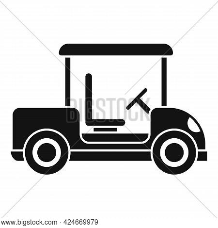 Golf Cart Hobby Icon. Simple Illustration Of Golf Cart Hobby Vector Icon For Web Design Isolated On