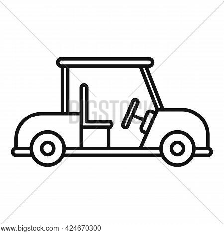 Golf Cart Buggy Icon. Outline Golf Cart Buggy Vector Icon For Web Design Isolated On White Backgroun