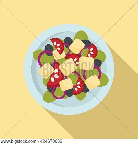 Greece Salad Icon. Flat Illustration Of Greece Salad Vector Icon For Web Design