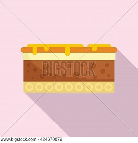 Greece Food Moussaka Icon. Flat Illustration Of Greece Food Moussaka Vector Icon For Web Design