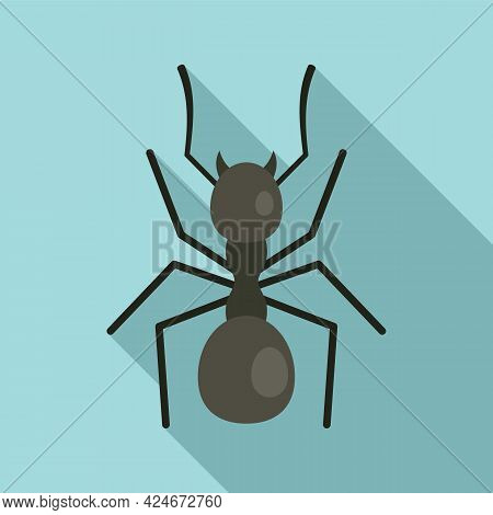 Digger Ant Icon. Flat Illustration Of Digger Ant Vector Icon For Web Design