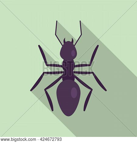Nature Ant Icon. Flat Illustration Of Nature Ant Vector Icon For Web Design