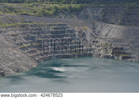 Crater Of The Old Open-cast Mine Of Asbestos In Quebec, Canada