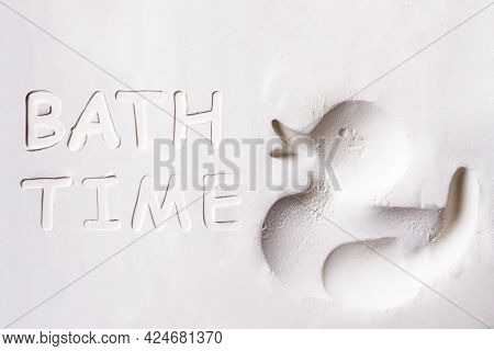 Abstract Grainy Texture Isolated On White Background. Top View. Dust, Sand Blow, Flour, Powder, Doug