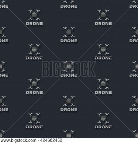 Drones. Vector Background, Templates Of Flying Drones. Drone Flying With Action Camera.