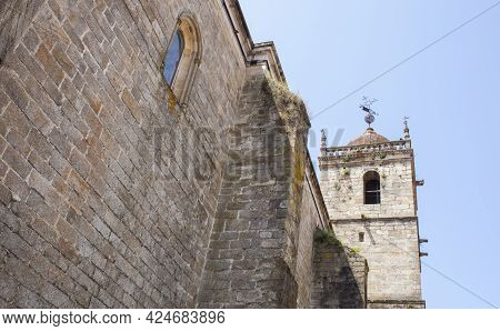 Acebo, Beautiful Little Town In Sierra De Gata, Caceres, Extremadura, Spain. Parish Church Of Nuestr
