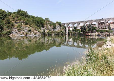 View Of Saint Nazaire En Royans In Drome Department, France