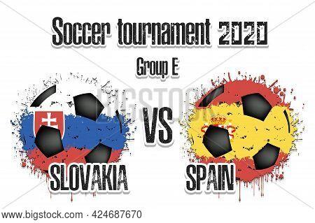 Soccer Game Slovakia Vs Spain