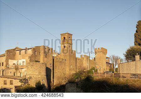Scenic View To The City Of Vitorchiano In Lazio, Italy