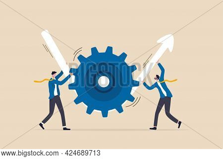Business Transformation Or Improvement, Execution Workflow To Increase Productivity And Efficiency,
