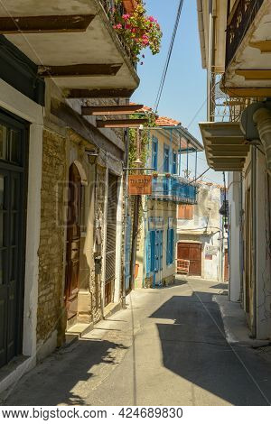 Alley At The Village Of Lefkara On Cyprus