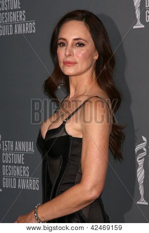 LOS ANGELES - FEB 19:  Madeleine Stowe arrives at the 15th Annual Costume Designers Guild Awards at the Beverly HIlton Hotel on February 19, 2013 in Beverly Hills, CA
