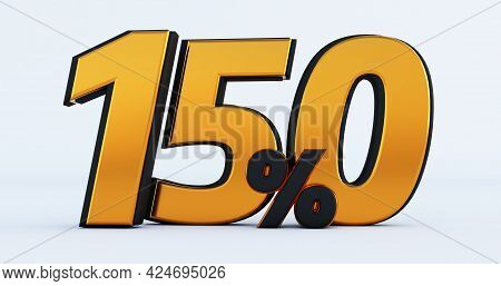 3d Render Of Discount One Hundred Fifty 150 Percent Off Isolated On White Background