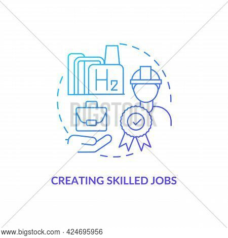 Creating Skilled Jobs Concept Icon. Careers In Energy Abstract Idea Thin Line Illustration. Fuel Cel