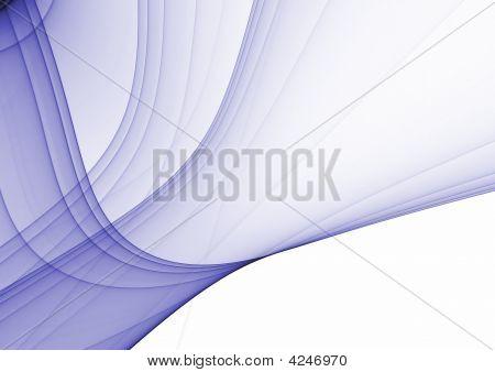 Blue rendered fractal design ( fantasy abstract background ) poster