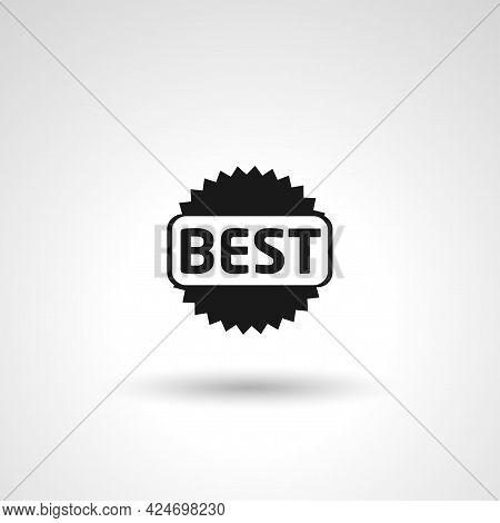 Best Seller Label Sign. Best Seller Label Isolated Simple Vector Icon