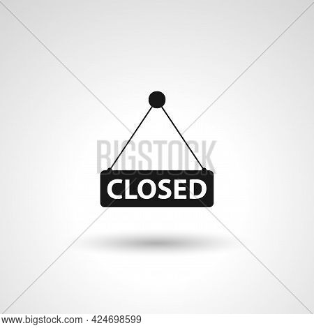 Closed Shop Sign. Closed Label Sign. Closed Isolated Simple Vector Icon