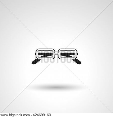 Optical Glasses Sign. Optical Glasses Isolated Simple Vector Icon