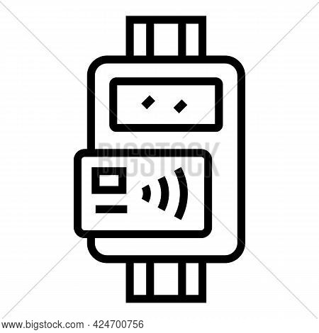 Subway Ticket Machine Icon. Outline Subway Ticket Machine Vector Icon For Web Design Isolated On Whi