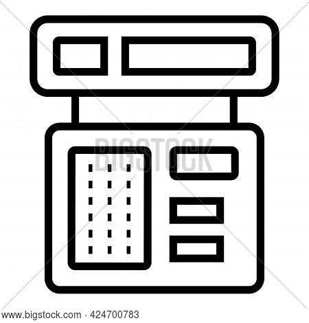 Subway Ticket Device Icon. Outline Subway Ticket Device Vector Icon For Web Design Isolated On White