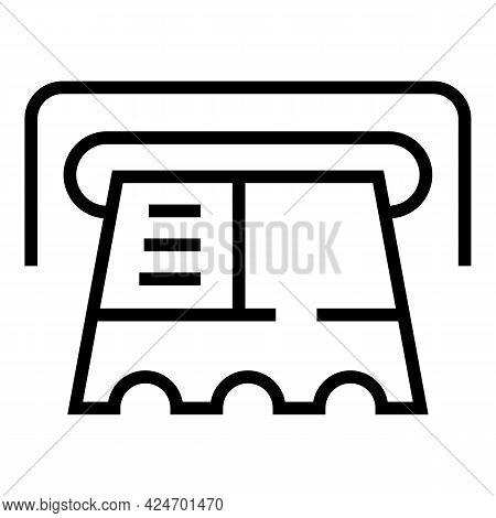 Metro Ticket Icon. Outline Metro Ticket Vector Icon For Web Design Isolated On White Background
