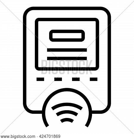 Metro Ticket Device Icon. Outline Metro Ticket Device Vector Icon For Web Design Isolated On White B