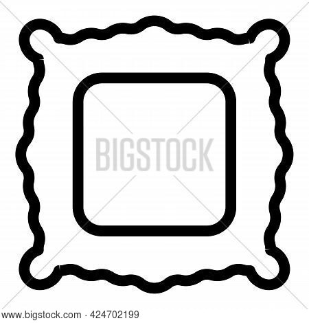 Ravioli Traditional Icon. Outline Ravioli Traditional Vector Icon For Web Design Isolated On White B