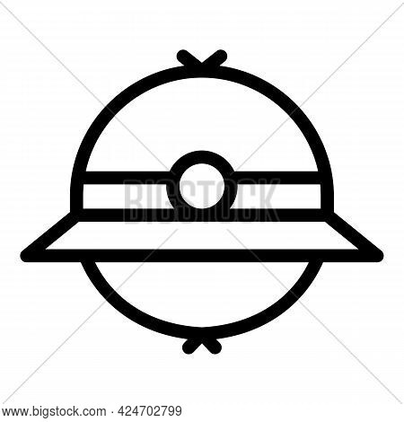 Expedition Hat Icon. Outline Expedition Hat Vector Icon For Web Design Isolated On White Background