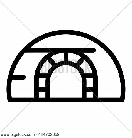 Expedition House Icon. Outline Expedition House Vector Icon For Web Design Isolated On White Backgro