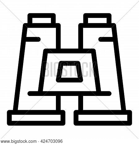 Expedition Binoculars Icon. Outline Expedition Binoculars Vector Icon For Web Design Isolated On Whi
