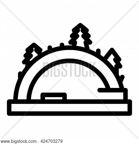 Expedition Wild Forest Icon. Outline Expedition Wild Forest Vector Icon For Web Design Isolated On W