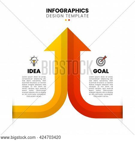 Infographic Design Template. Business Concept With 2 Steps. Can Be Used For Workflow Layout, Diagram