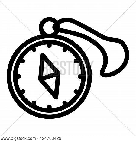 Expedition Compass Travel Icon. Outline Expedition Compass Travel Vector Icon For Web Design Isolate