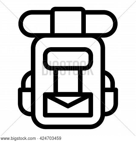 Expedition Backpack Icon. Outline Expedition Backpack Vector Icon For Web Design Isolated On White B