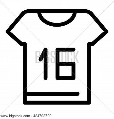 Runner Shirt Icon. Outline Runner Shirt Vector Icon For Web Design Isolated On White Background
