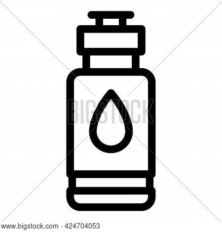Runner Water Bottle Icon. Outline Runner Water Bottle Vector Icon For Web Design Isolated On White B