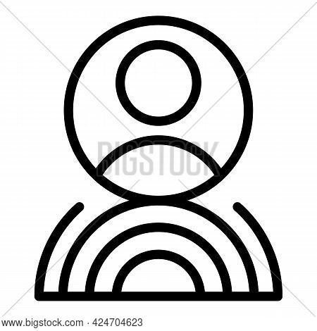 Hologram Projection Avatar Icon. Outline Hologram Projection Avatar Vector Icon For Web Design Isola