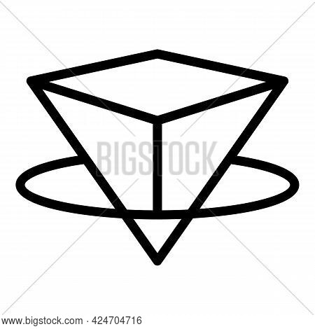 Hologram Projection Industry Icon. Outline Hologram Projection Industry Vector Icon For Web Design I