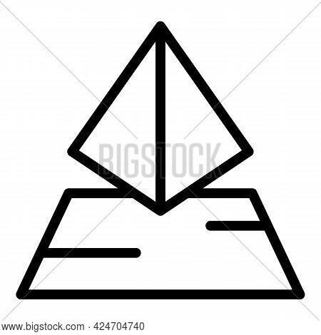 Hologram Projection Sensor Icon. Outline Hologram Projection Sensor Vector Icon For Web Design Isola