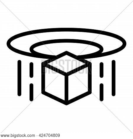 Hologram Projection Ar Icon. Outline Hologram Projection Ar Vector Icon For Web Design Isolated On W