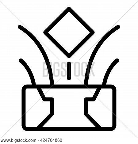 Web Hologram Projection Icon. Outline Web Hologram Projection Vector Icon For Web Design Isolated On