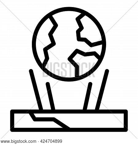 Earth Hologram Projection Icon. Outline Earth Hologram Projection Vector Icon For Web Design Isolate