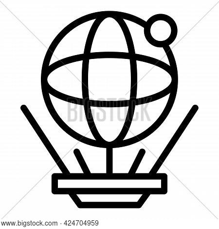 Planet Hologram Projection Icon. Outline Planet Hologram Projection Vector Icon For Web Design Isola