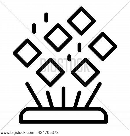 Abstract Hologram Projection Icon. Outline Abstract Hologram Projection Vector Icon For Web Design I