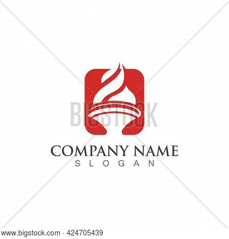 Torch Fire Symbol Graphic Modern Design Element And Vector Template